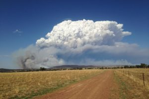 Smoke cloud as seen from Wargundy 12th February 2017